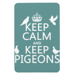 4'x6' Photo Magnet with Keep Calm and Keep Pigeons design