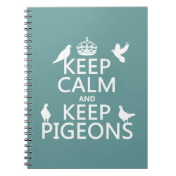 Photo Notebook (6.5' x 8.75', 80 Pages B&W) with Keep Calm and Keep Pigeons design