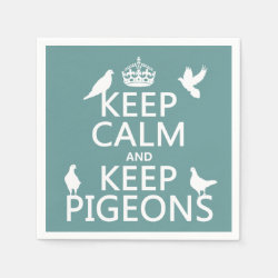 Paper Napkins with Keep Calm and Keep Pigeons design