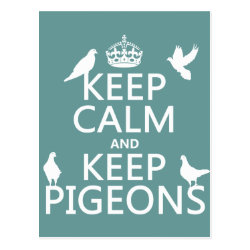 Postcard with Keep Calm and Keep Pigeons design
