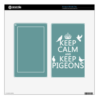 Keep Calm and Keep Pigeons - all colours Decal For Kindle Fire