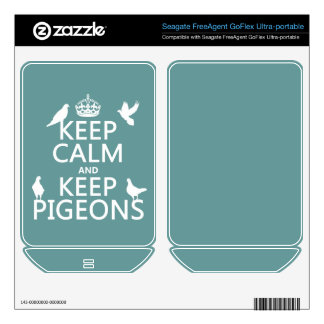 Keep Calm and Keep Pigeons - all colours FreeAgent GoFlex Skin