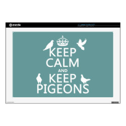 17' Laptop Skin for Mac & PC with Keep Calm and Keep Pigeons design