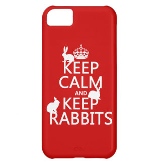 Keep Calm and Keep Rabbits - all colors iPhone 5C Cover
