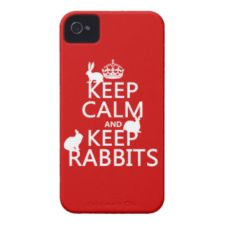 Keep Calm and Keep Rabbits - all colors iPhone 4 Case-Mate Case
