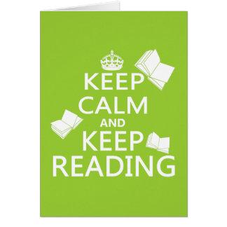 Keep Calm and Keep Reading Card