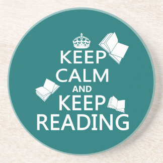 Keep Calm and Keep Reading Drink Coasters