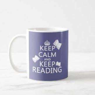 Keep Calm and Keep Reading Coffee Mug