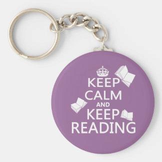 Keep Calm and Keep Reading Keychains