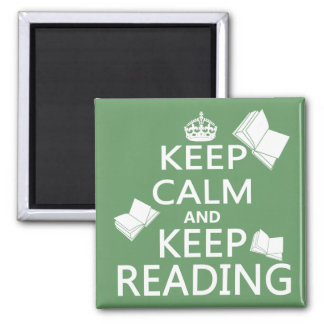 Keep Calm and Keep Reading 2 Inch Square Magnet