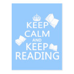 Keep Calm and Keep Reading Post Card