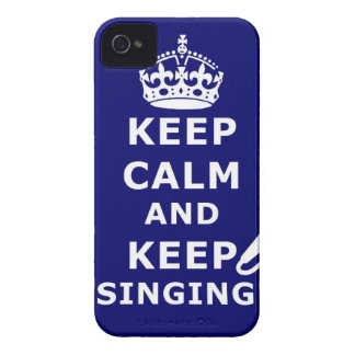 KEEP CALM AND KEEP SINGING! iPhone 4 CASE