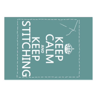 Keep Calm and Keep Stitching all colors Business Card