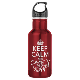 Keep Calm and Keep Writing 18oz Water Bottle