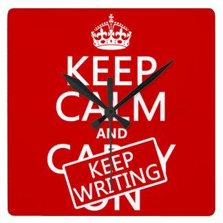 Keep Calm and Keep Writing Clocks