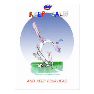 keep calm and keep your head, tony fernandes postcard