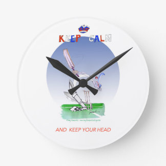 keep calm and keep your head, tony fernandes round clock