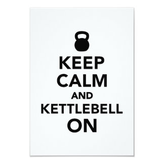Keep calm and Kettlebell on Card