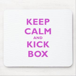 Keep Calm and Kick Box Mouse Pad
