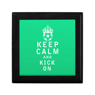 Keep Calm and Kick On Trinket Box