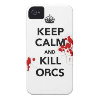 keep calm and kill orcs iPhone 4 case