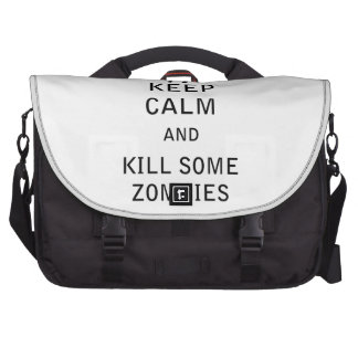 Keep Calm and Kill Some Zombies Bag For Laptop