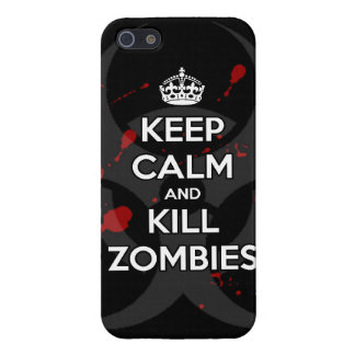 Keep Calm and kill zombie zombies wa Cover For iPhone SE/5/5s