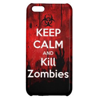 Keep Calm and kill zombie zombies wa iPhone 5C Case