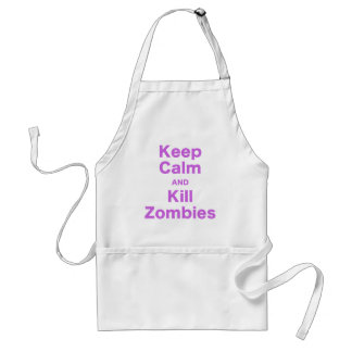 Keep Calm and Kill Zombies Adult Apron