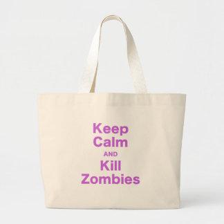 Keep Calm and Kill Zombies Jumbo Tote Bag