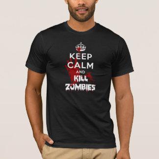 Keep Calm And Kill Zombies Black T-Shirt
