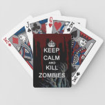 keep calm and kill zombies card deck