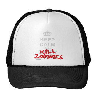 Keep Calm And Kill Zombies - Carry On Gamer Geek Mesh Hats
