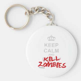 Keep Calm And Kill Zombies - Carry On Gamer Geek Key Chains