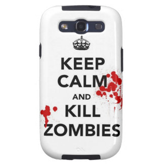 Keep Calm and kill zombies carry on zombie horror Galaxy SIII Covers