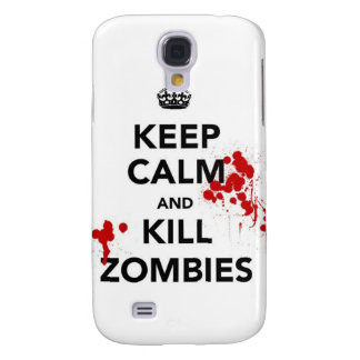 Keep Calm and kill zombies carry on zombie horror Samsung Galaxy S4 Cover