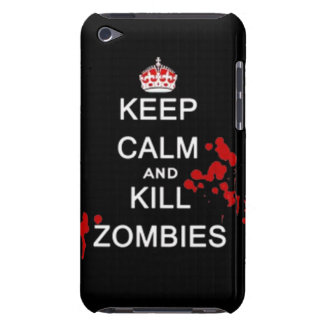 keep calm and kill zombies iPod Case-Mate cases