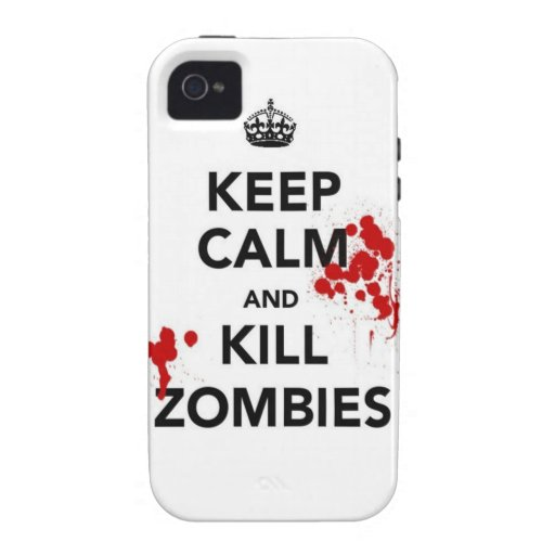 keep calm and kill zombies iPhone 4 covers