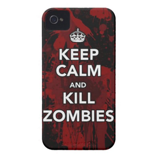keep calm and kill zombies iPhone4 case