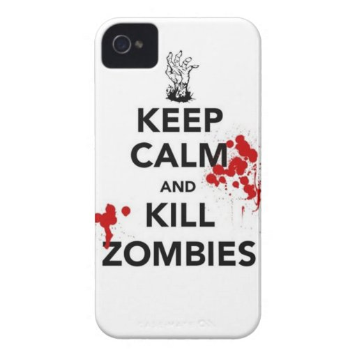 keep calm and kill zombies Case-Mate iPhone 4 cases