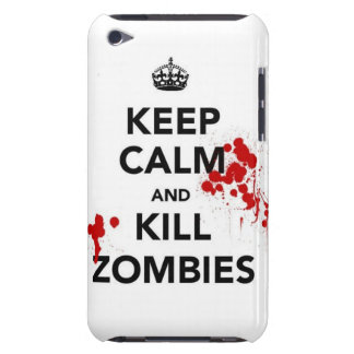 keep calm and kill zombies barely there iPod cover