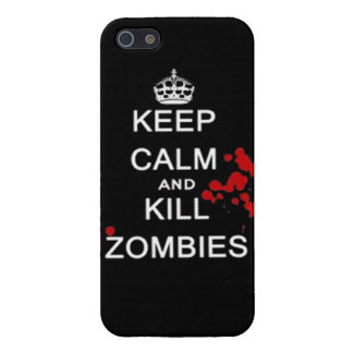 keep calm and kill zombies case for iPhone SE/5/5s