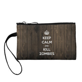 Keep calm and kill zombies coin purse