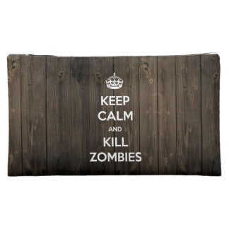 Keep calm and kill zombies cosmetic bag