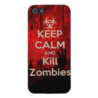 keep calm and kill zombies cover for iPhone SE/5/5s