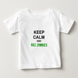 Keep Calm and Kill Zombies cracked green Baby T-Shirt