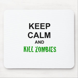 Keep Calm and Kill Zombies cracked green Mouse Pad