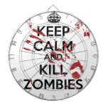 Keep Calm and Kill Zombies Dart Boards