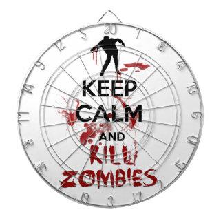 Keep Calm and Kill Zombies Dartboard With Darts