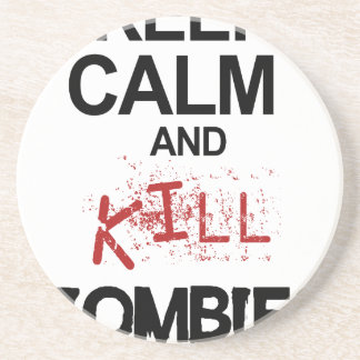 Keep Calm And Kill Zombies Drink Coaster